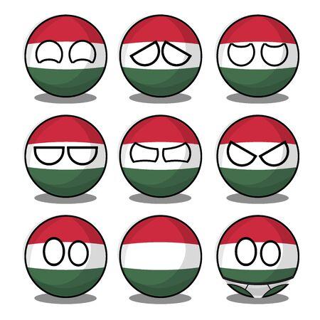 hungary countryball Vektorové ilustrace