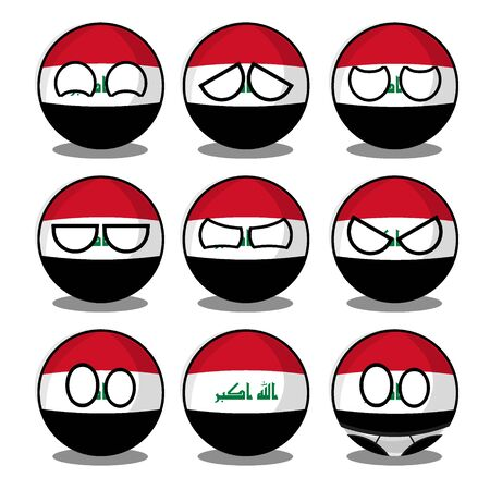iraq countryball Vector Illustratie