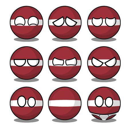 latvia countryball Illusztráció