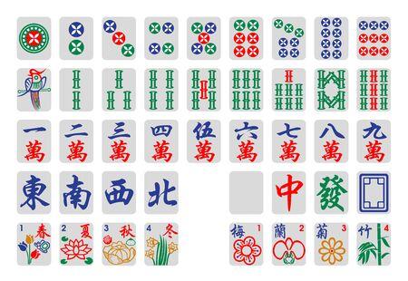 mahjong tiles 向量圖像