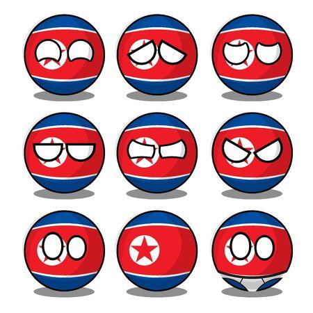 north korea countryball Vetores