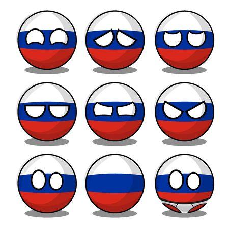russia countryball Ilustración de vector