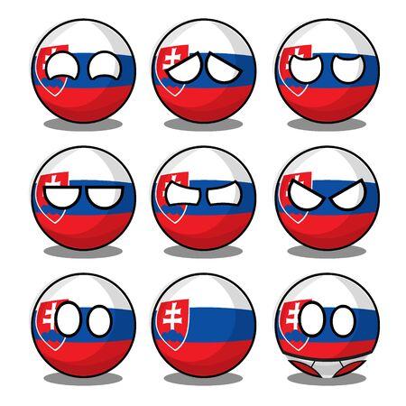 slovakia countryball Ilustracje wektorowe