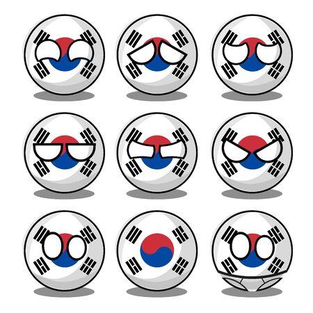 south korea countryball