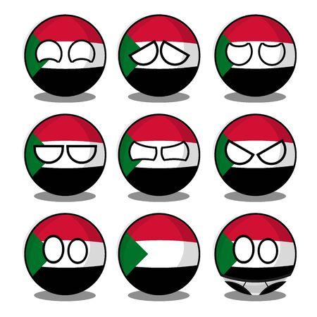 sudan countryball Vector Illustratie