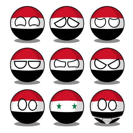syria countryball Vecteurs
