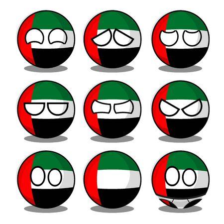 united arab emirates countryball 向量圖像