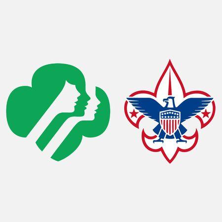 scout guides emblem logo badge united states Ilustração