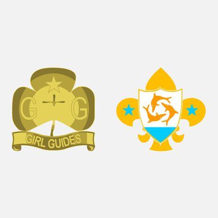 scout guides emblem logo badge anguilla