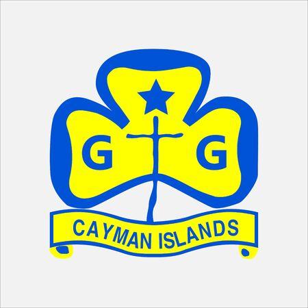 scout guides emblem logo badge cayman islands