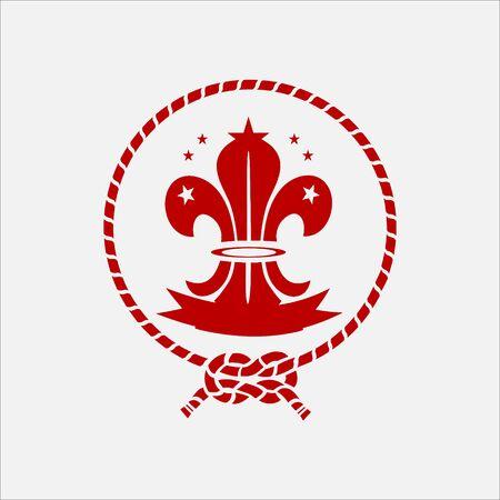 scout guides emblem logo badge china Ilustração