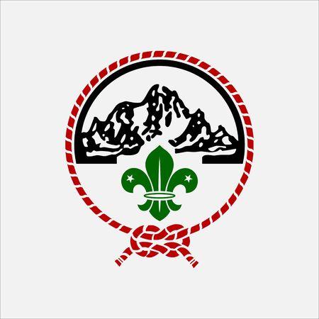 scout guides emblem logo badge kenya Ilustração
