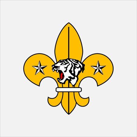 scout guides emblem logo badge south korea Ilustração