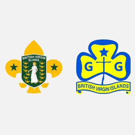 scout guides emblem logo badge virgin islands