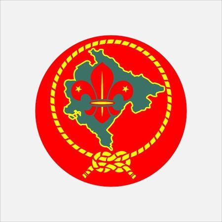 scout guides emblem logo badge montenegro Ilustração