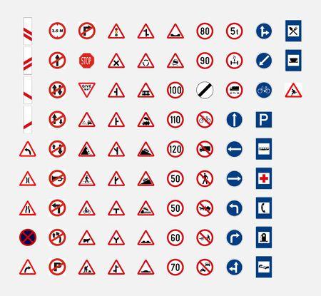 india road traffic sign symbol Vetores