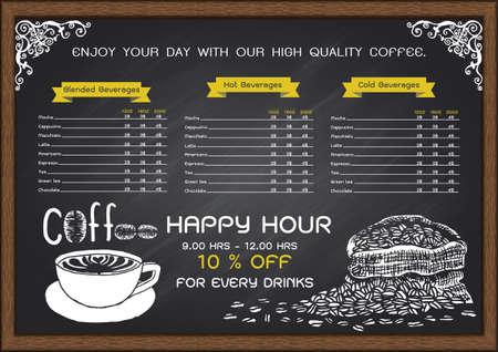 Coffee Menu Cafe Design Ideas Vettoriali