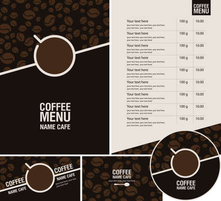 Coffee Menu Cafe Design Ideas Vettoriali