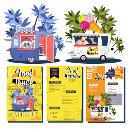 Fast Food Truck Menu Design Ideas