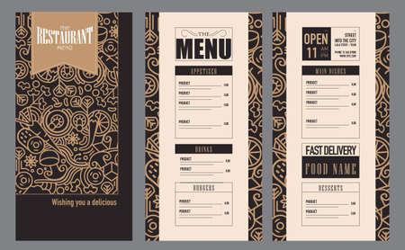 Restaurant Menu Food Design Ideas Vector Illustratie