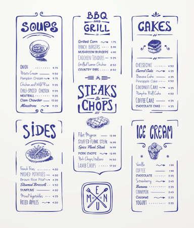 Restaurant Menu Food Design Ideas