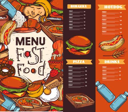 Fast Food Menu Design Ideas