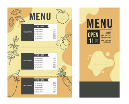 Restaurant Menu Food Design Ideas