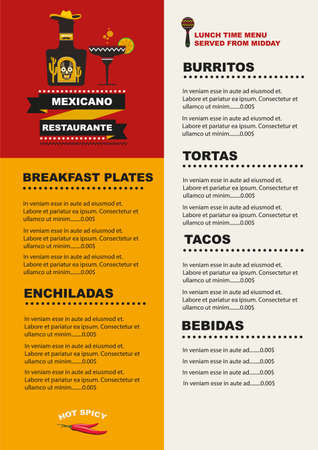 Mexican Menu Food Design Ideas