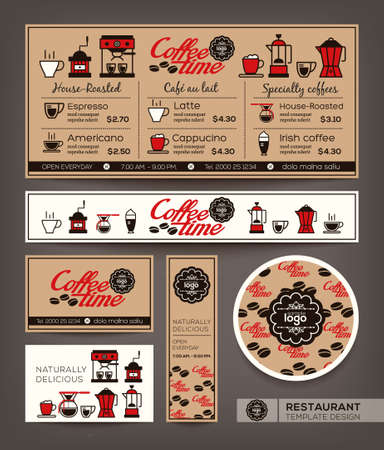Coffee Menu Cafe Design Ideas Illustration