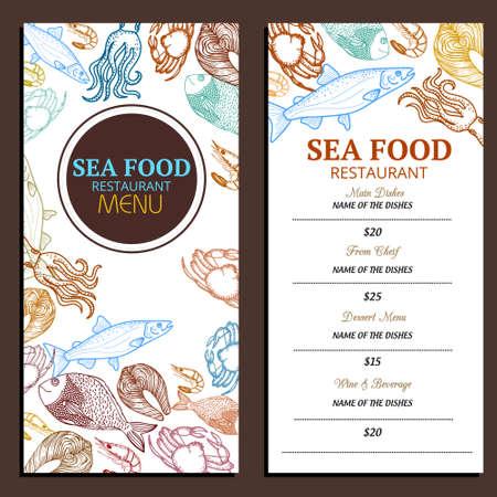 Seafood Restaurant Menu Design Ideas