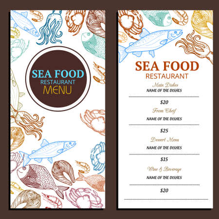 Seafood Restaurant Menu Design Ideas