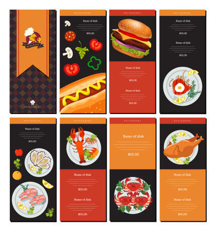 Fast Food Pizza Menu Design Ideas Illustration