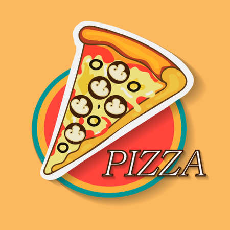Pizza Food Graphic Design Illustration Vettoriali