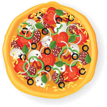 Pizza Food Graphic Design Illustration