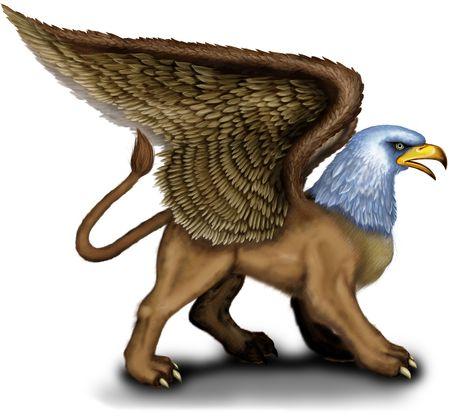 Mythology Griffin Foto de archivo