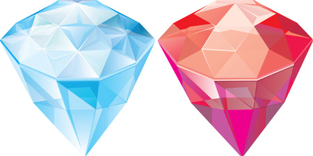 Jewels. Sapphire. Ruby. Vector illustration Vector