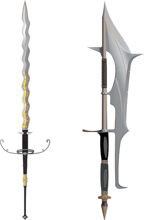 halberd: Two-Handled halberd and Flamberg
