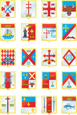 Heraldic Shield Stock Vector - 3805989