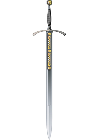 Celtic Sword. Vector illustration Stock Vector - 3805985