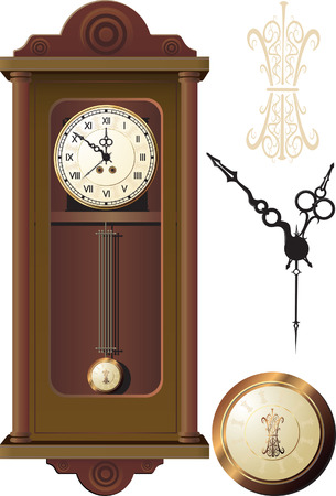 antique clock: old wall clock