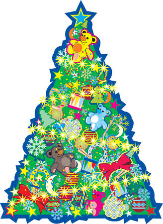 christmas tree. Vector illustration Stock Vector - 3890346