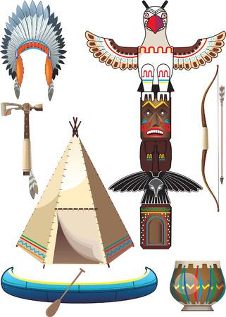 Indian icon set Vectores