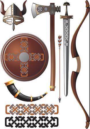 Viking icon set Stock Vector - 4062364
