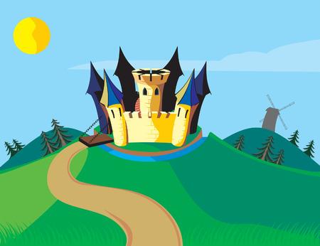 Fun castle Vector