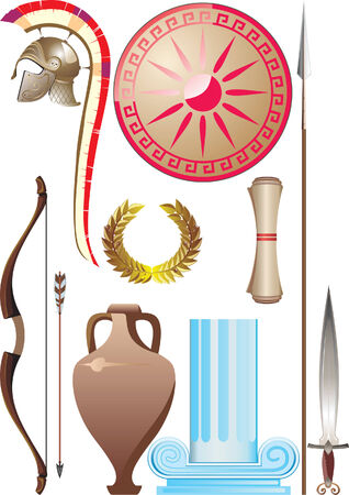 Ancient Greece set Stock Vector - 4155076