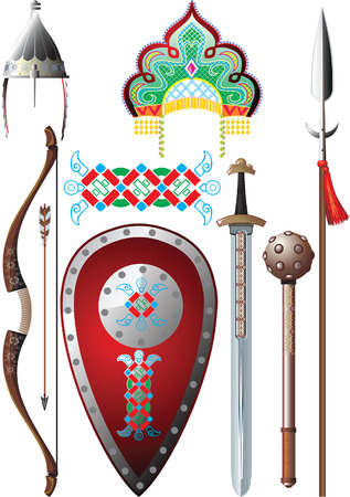Ancient Russia set Stock Vector - 4155075
