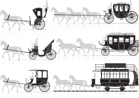 career coach: horse cart