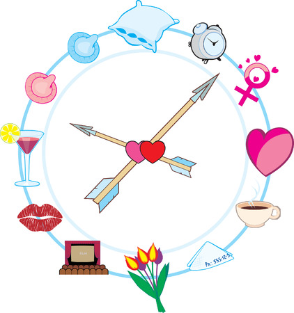 Macho Clock Vector