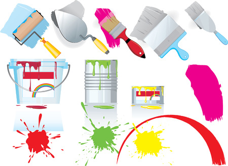 Paint and tools Vectores