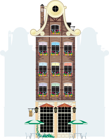 the netherlands: holland house Illustration